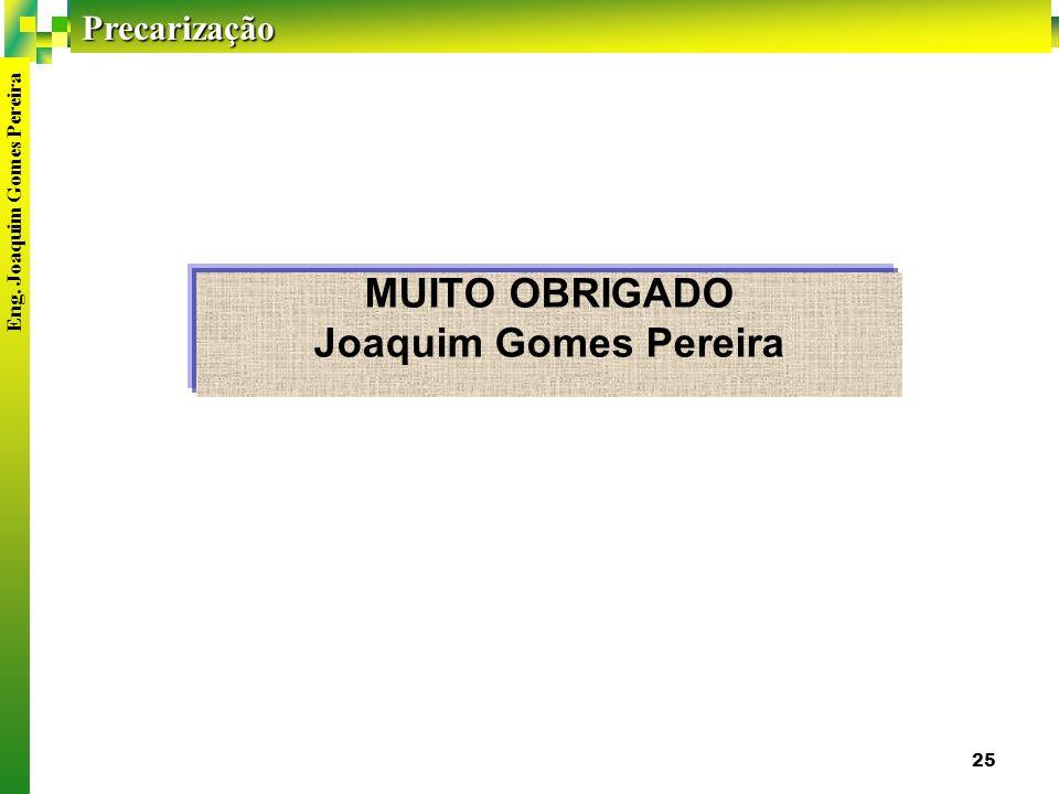 MUITO OBRIGADO Joaquim Gomes Pereira