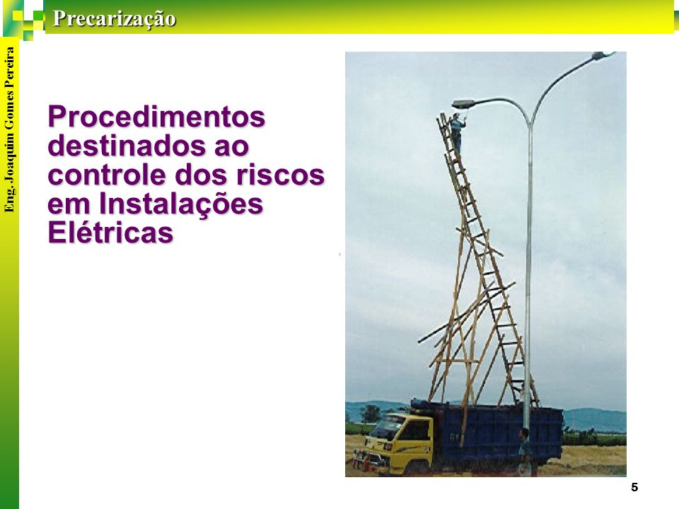 Procedimentos destinados ao controle dos riscos em Instalações Elétricas