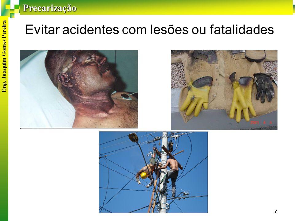 Evitar acidentes com lesões ou fatalidades