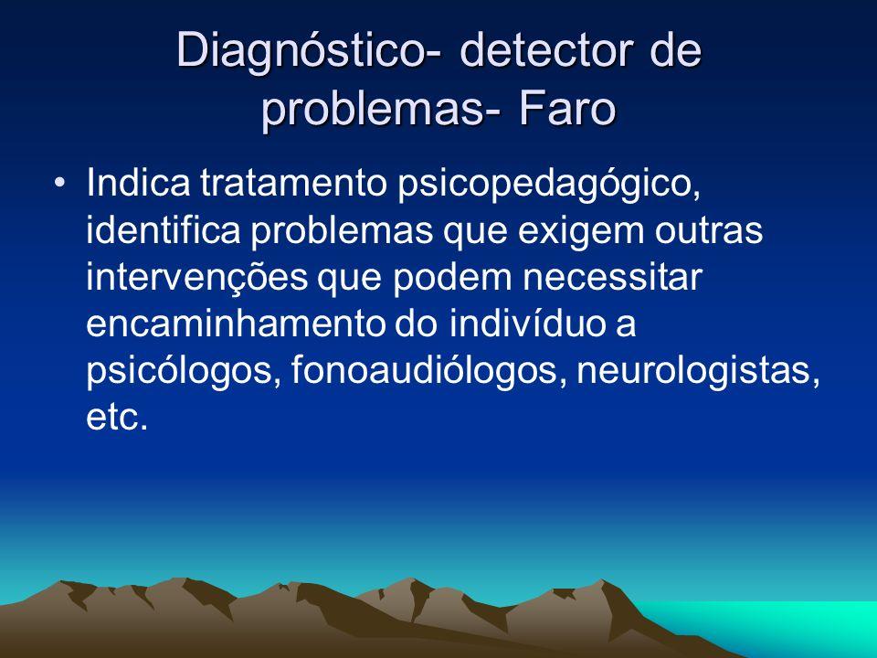 Diagnóstico- detector de problemas- Faro
