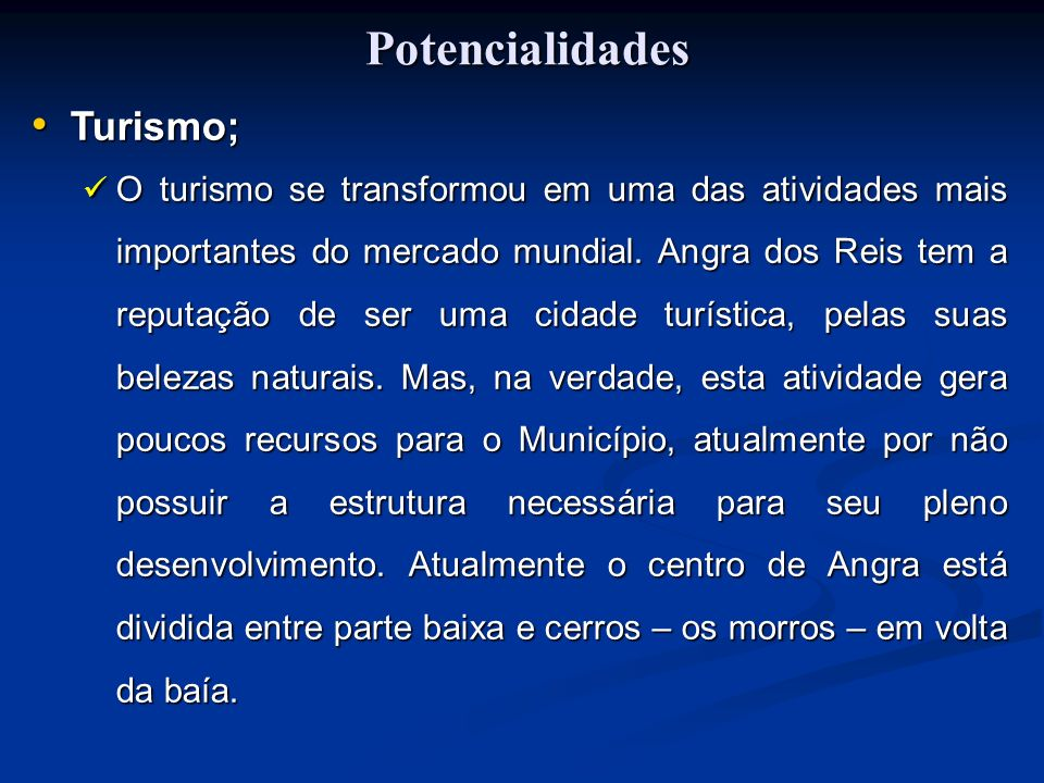 Potencialidades Turismo;