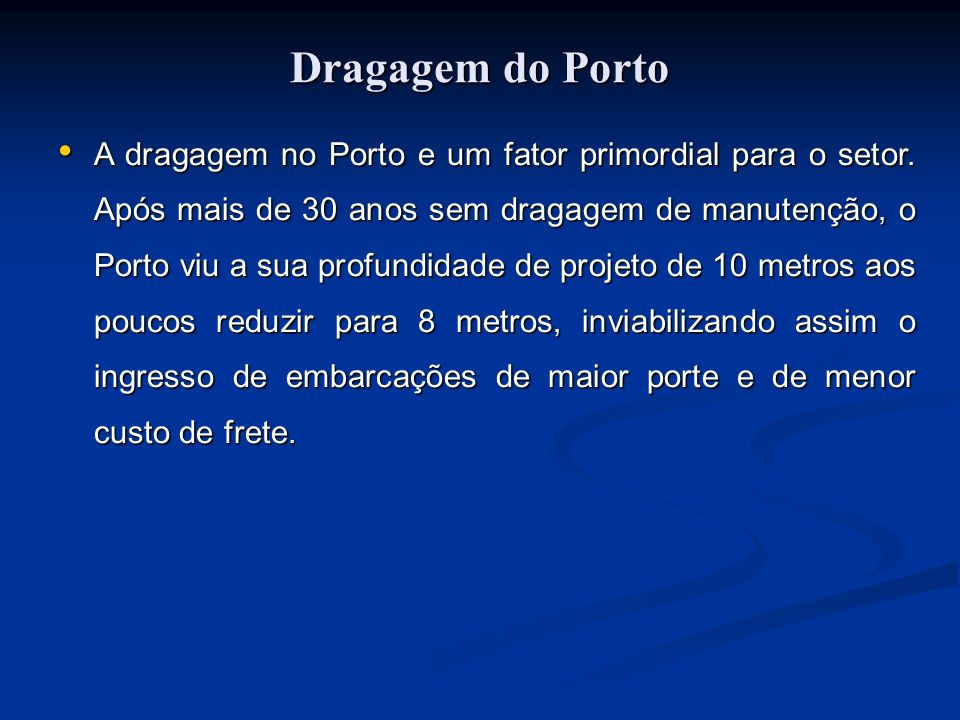 Dragagem do Porto