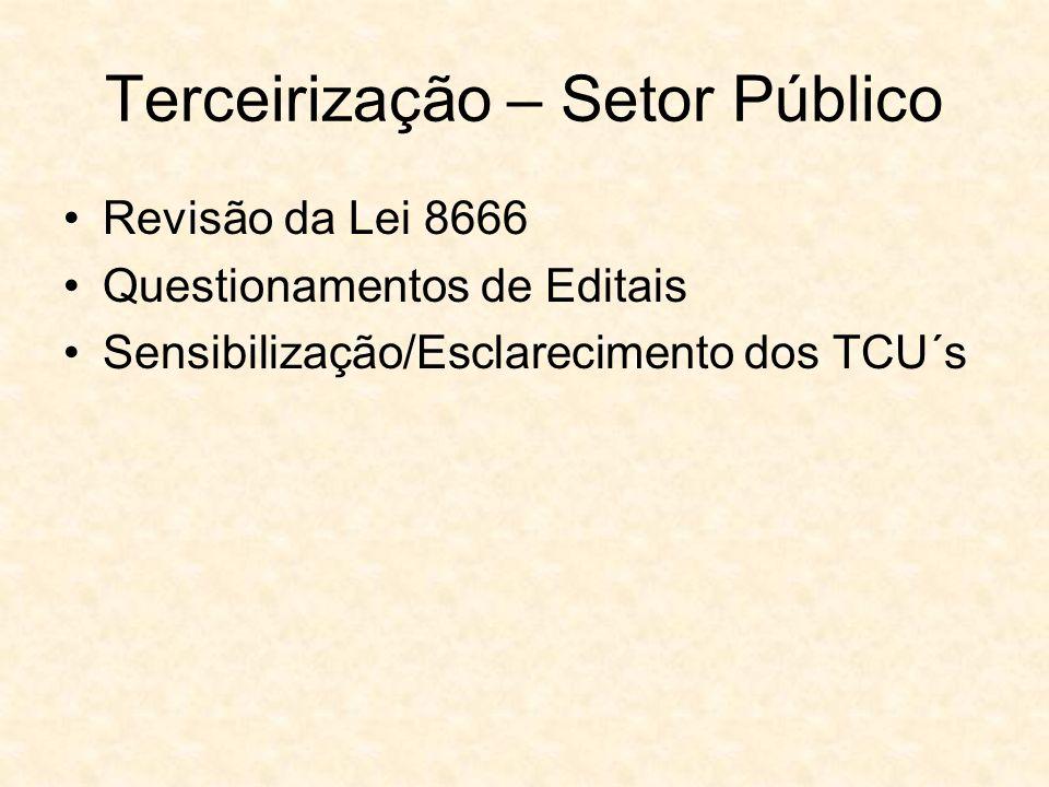 Terceirização – Setor Público