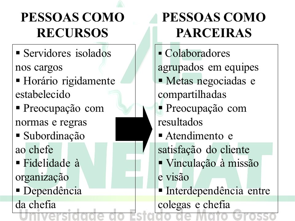 PESSOAS COMO RECURSOS PESSOAS COMO PARCEIRAS