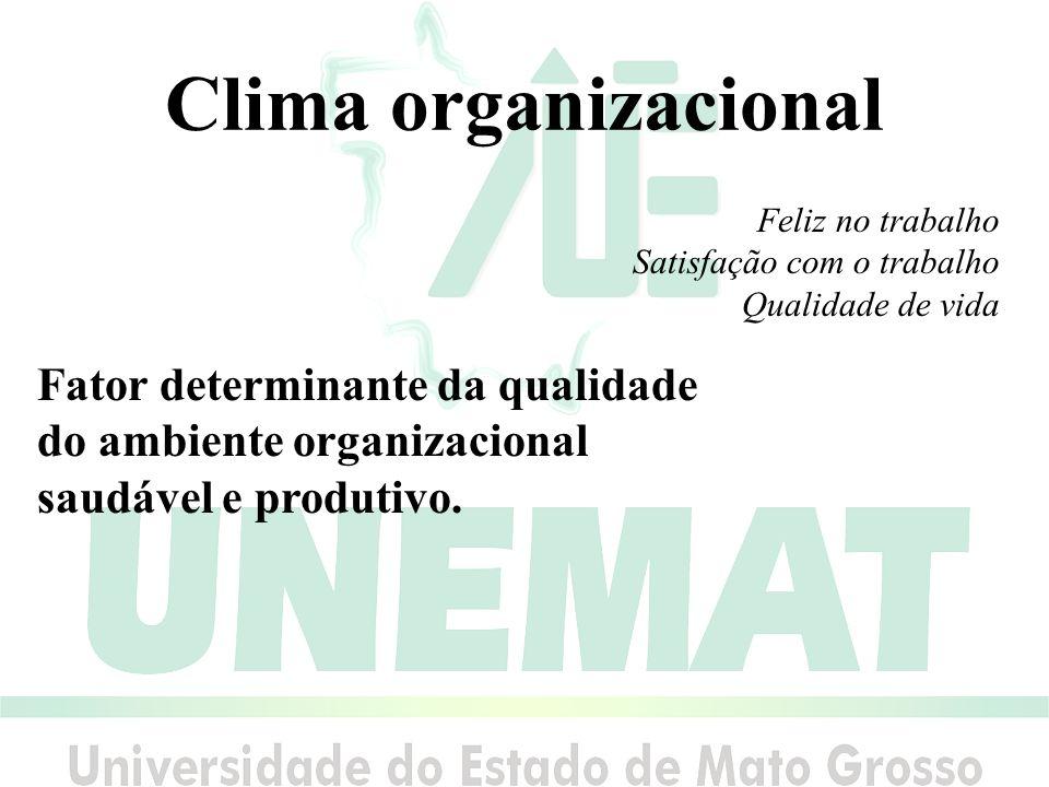Clima organizacional Fator determinante da qualidade