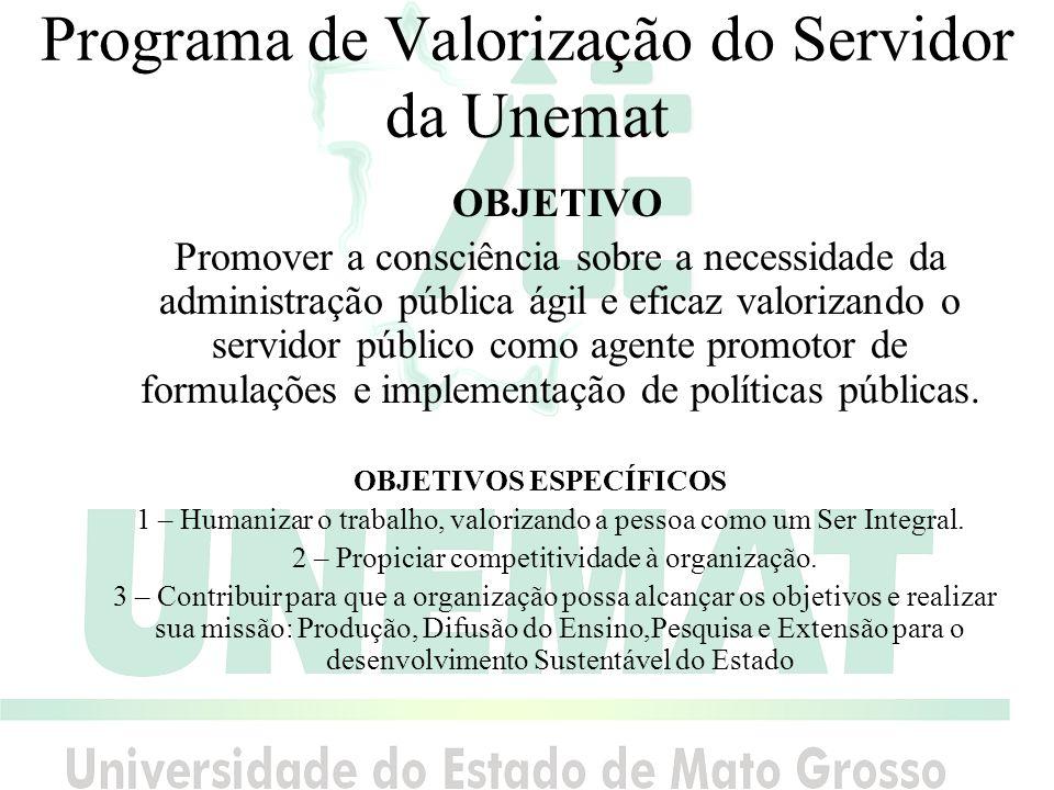 Programa de Valorização do Servidor da Unemat