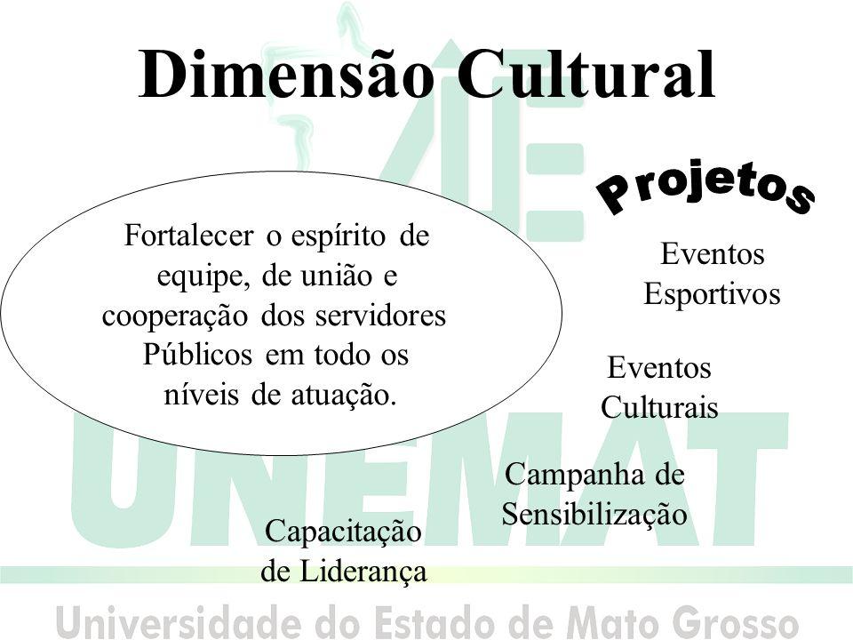 Dimensão Cultural Projetos Fortalecer o espírito de equipe, de união e