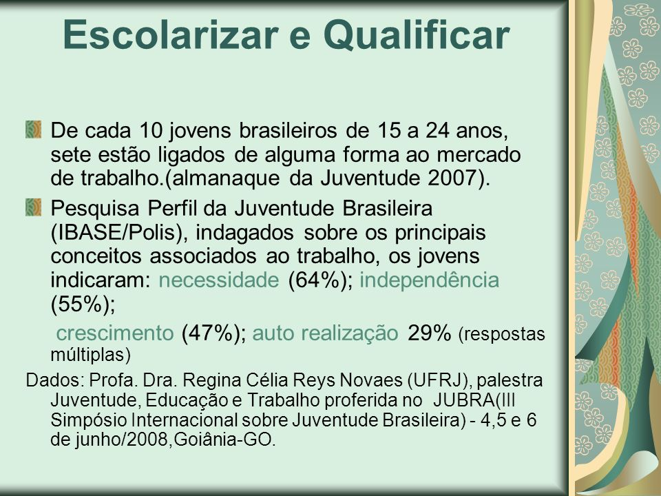 Escolarizar e Qualificar