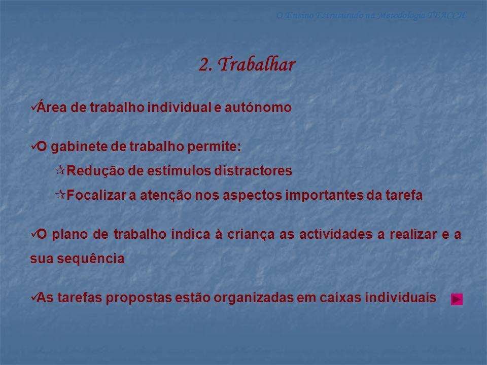 2. Trabalhar Área de trabalho individual e autónomo