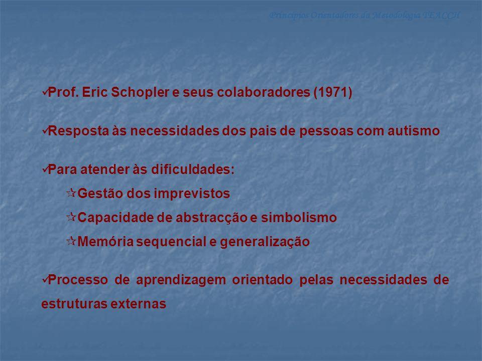 Prof. Eric Schopler e seus colaboradores (1971)