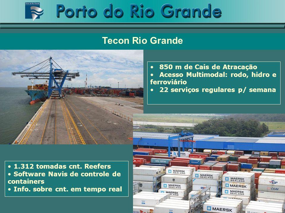 Tecon Rio Grande 850 m de Cais de Atracação