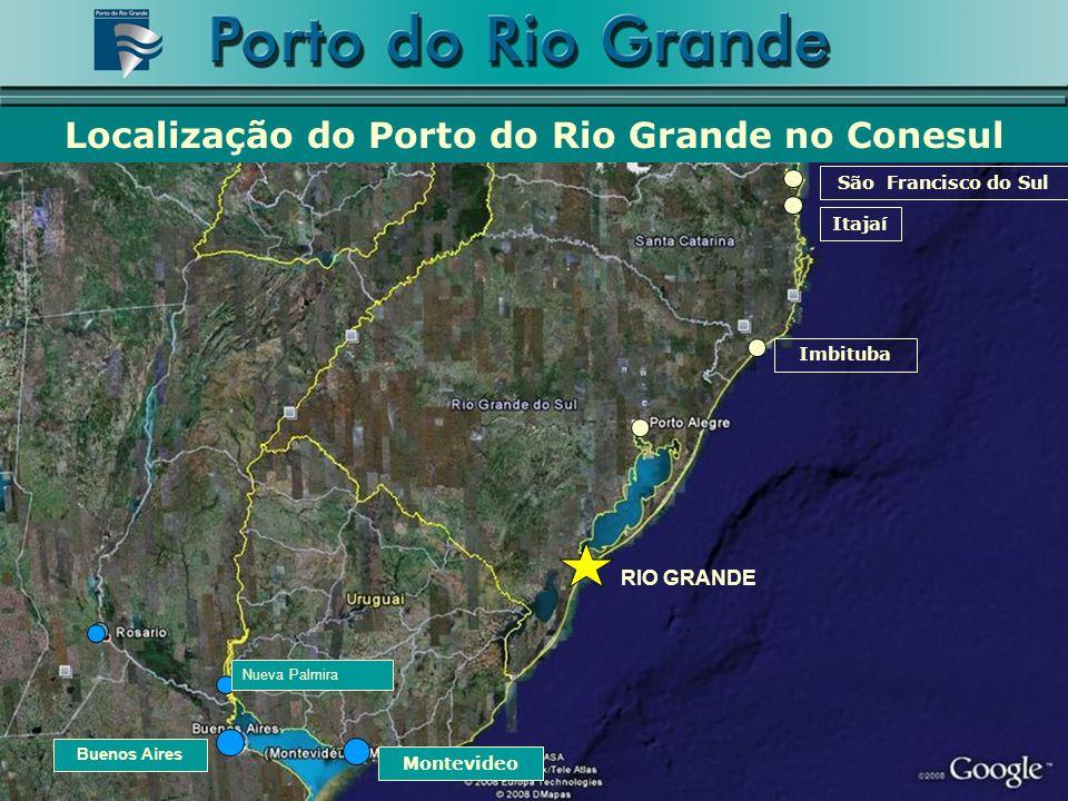 Localização do Porto do Rio Grande no Conesul