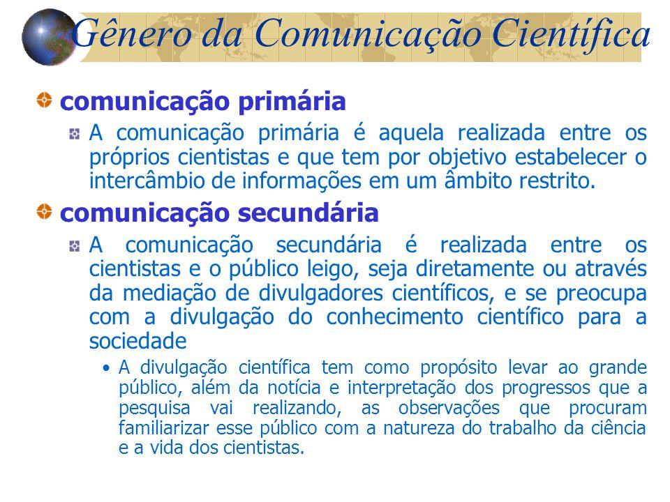 Gênero da Comunicação Científica