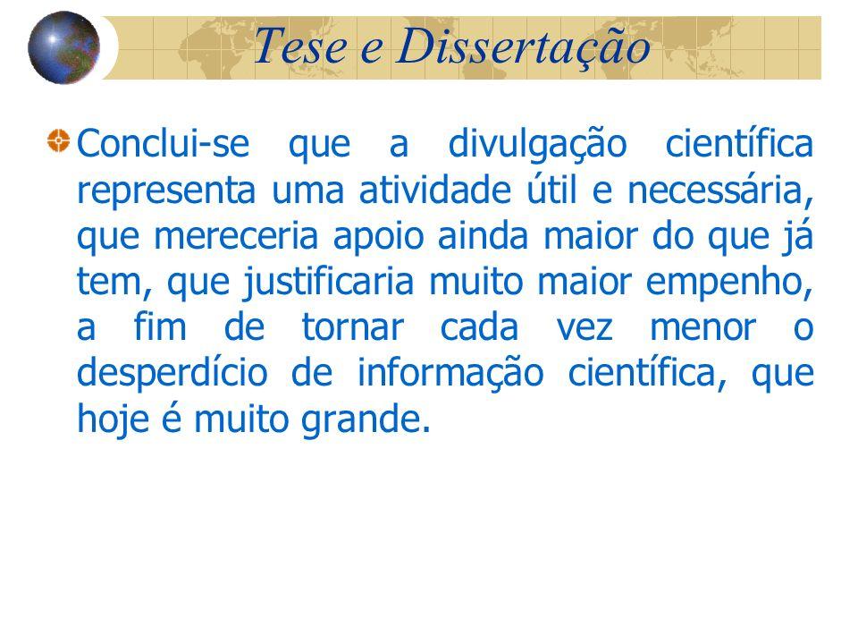 Tese e Dissertação