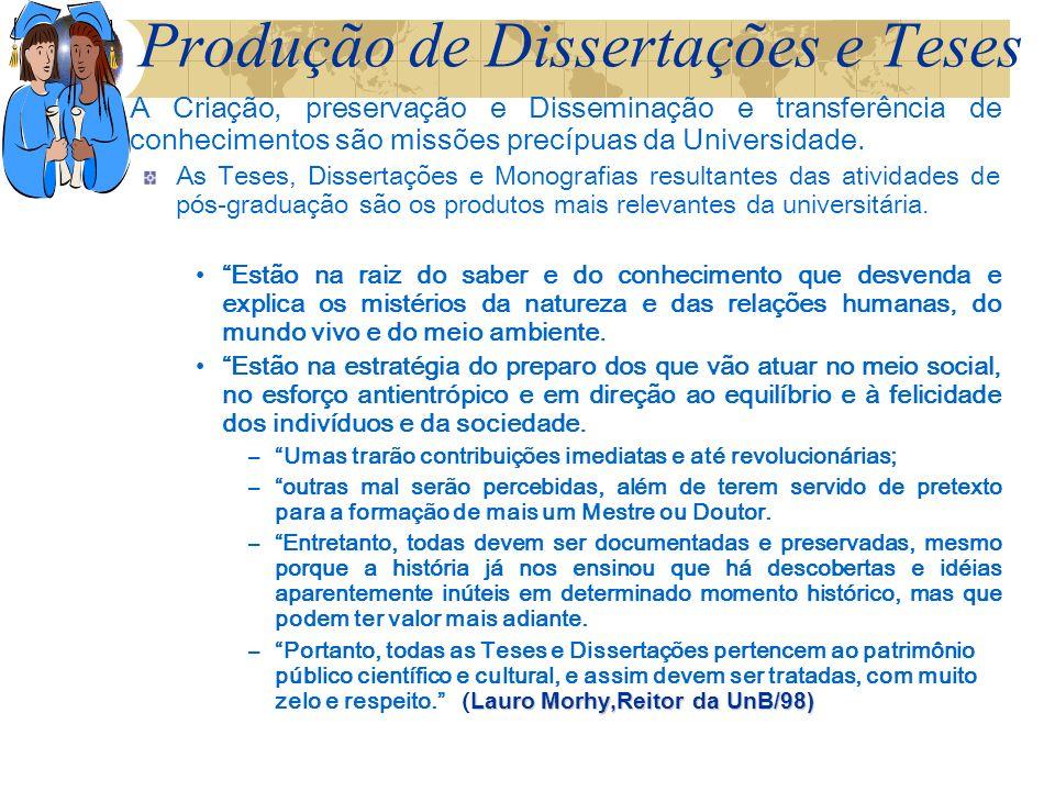 Produção de Dissertações e Teses