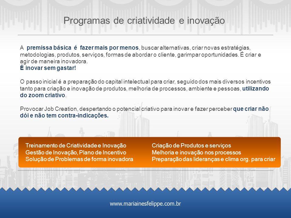 Programas de criatividade e inovação
