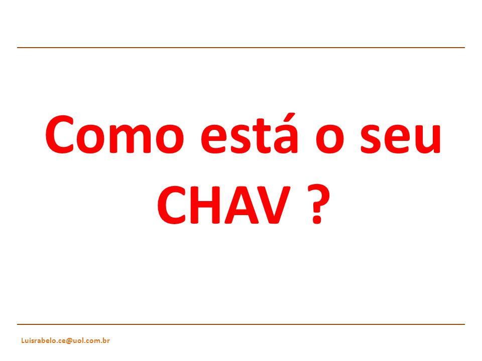 Como está o seu CHAV