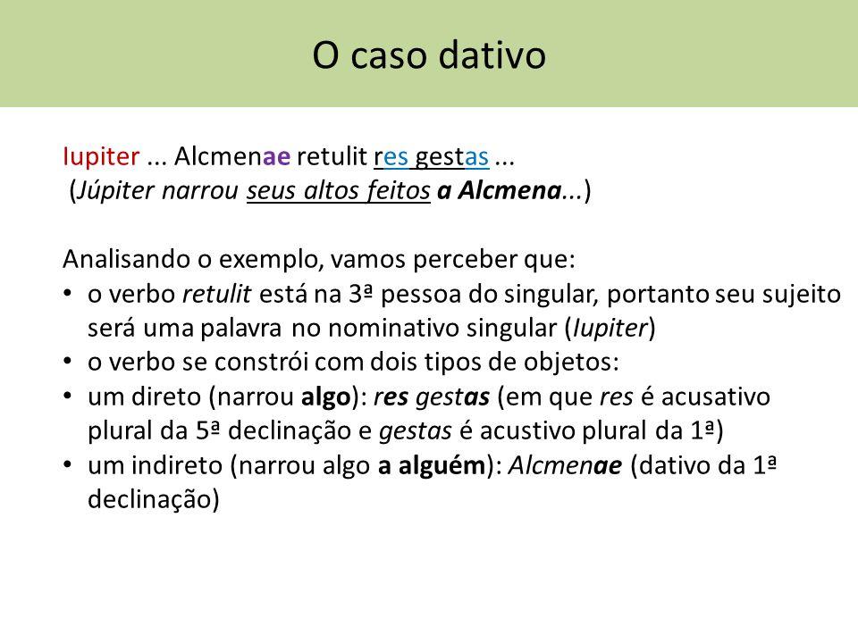 O caso dativo Iupiter ... Alcmenae retulit res gestas ...