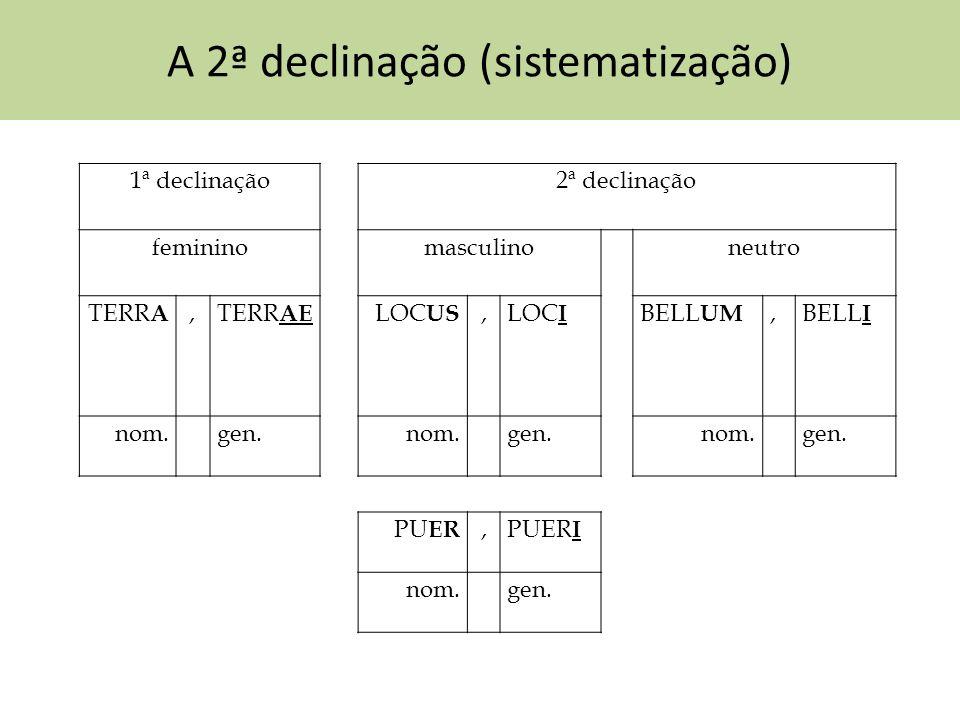 A 2ª declinação (sistematização)
