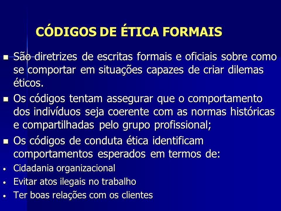CÓDIGOS DE ÉTICA FORMAIS