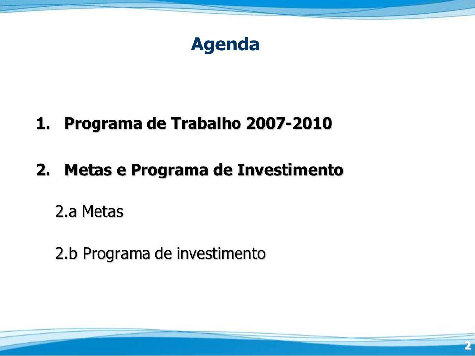 Agenda 1. Programa de Trabalho 2007-2010