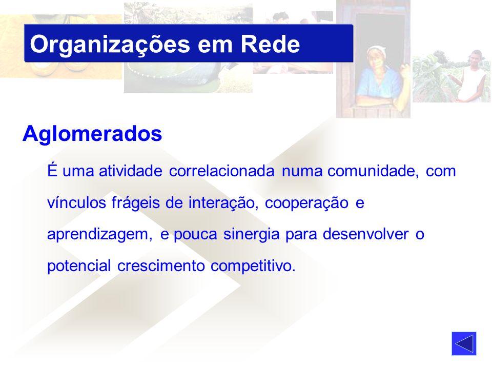 Organizações em Rede Aglomerados
