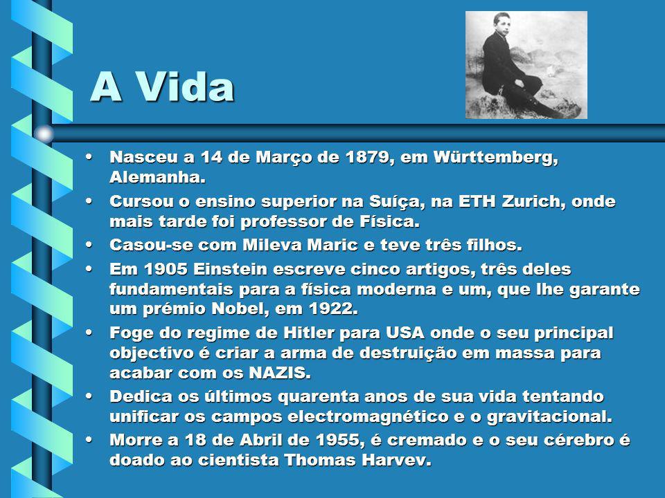 A Vida Nasceu a 14 de Março de 1879, em Württemberg, Alemanha.