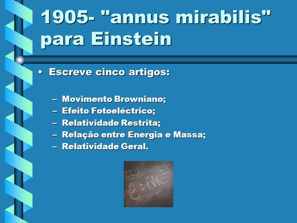 1905- annus mirabilis para Einstein