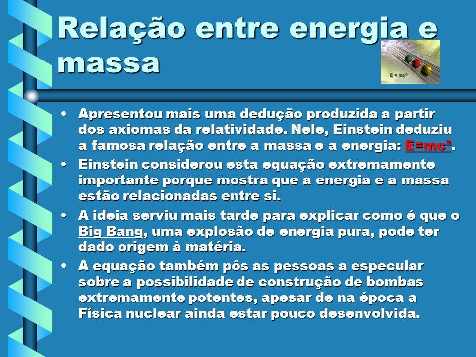 Relação entre energia e massa