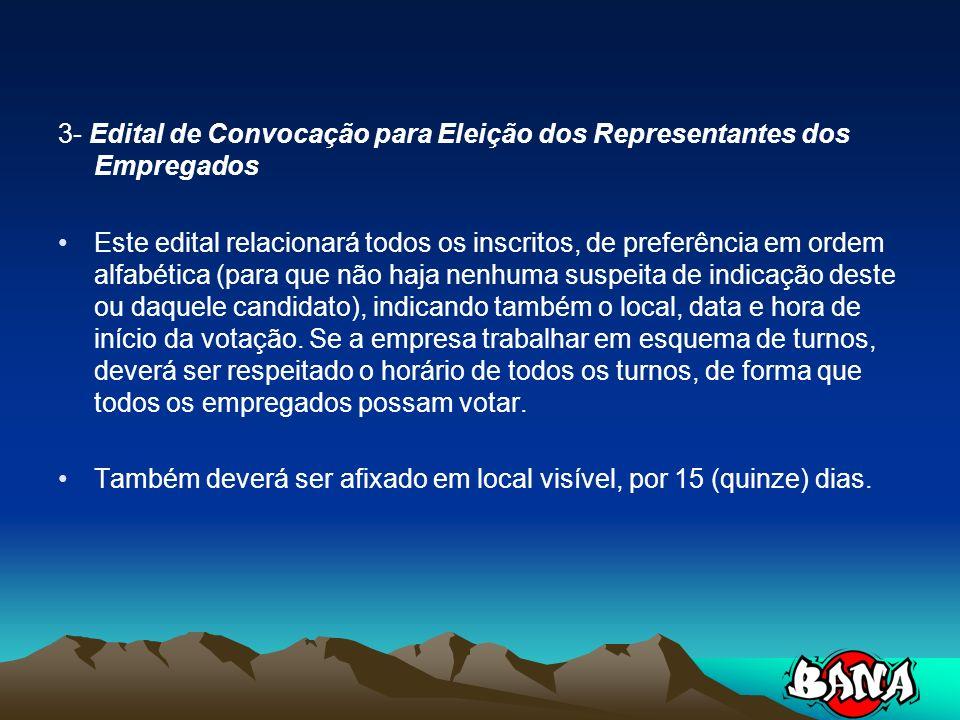 3- Edital de Convocação para Eleição dos Representantes dos Empregados