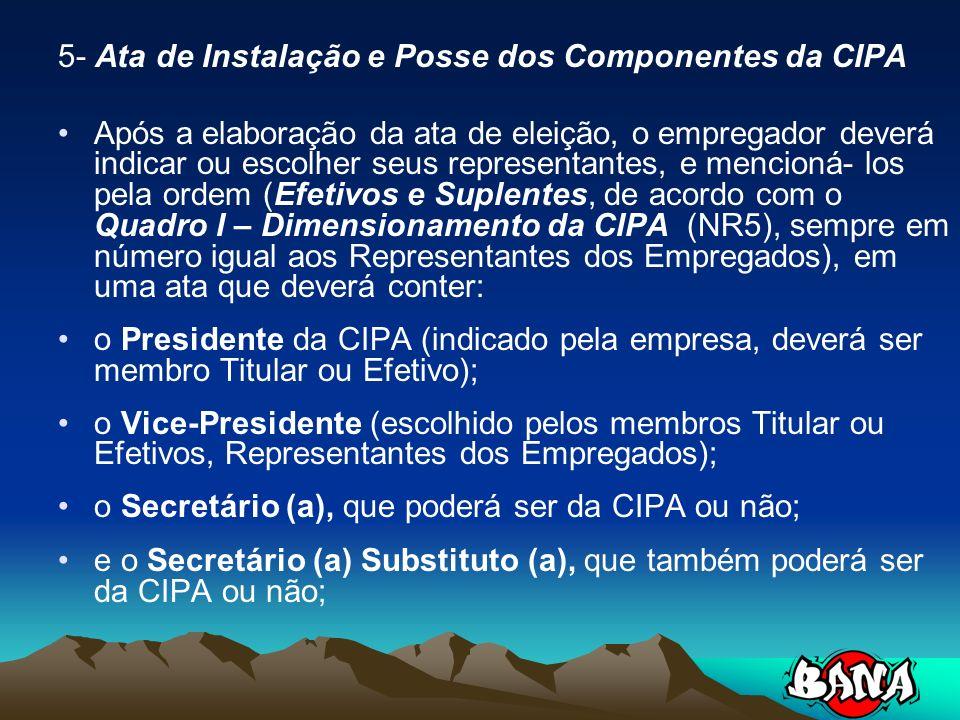 5- Ata de Instalação e Posse dos Componentes da CIPA