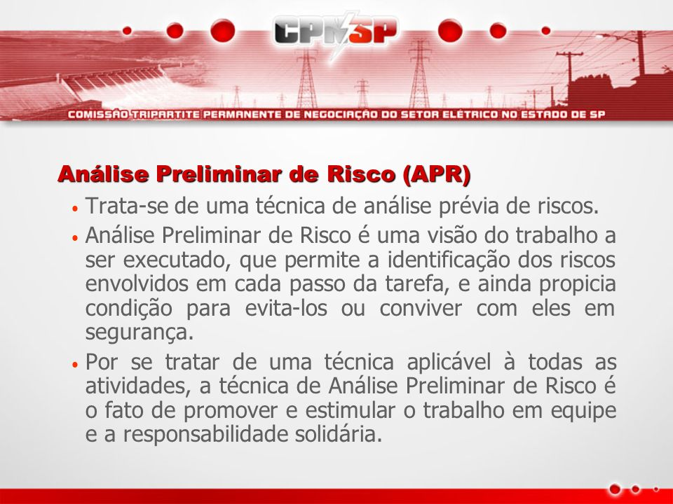 Análise Preliminar de Risco (APR)