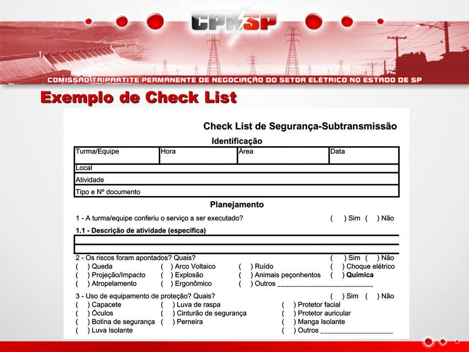 Exemplo de Check List