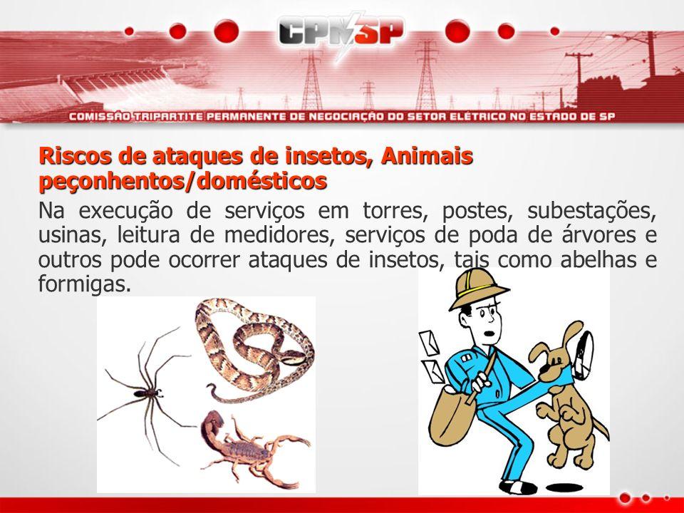 Riscos de ataques de insetos, Animais peçonhentos/domésticos