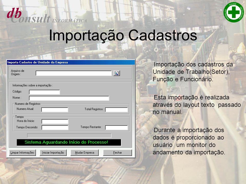 db Importação Cadastros Consult
