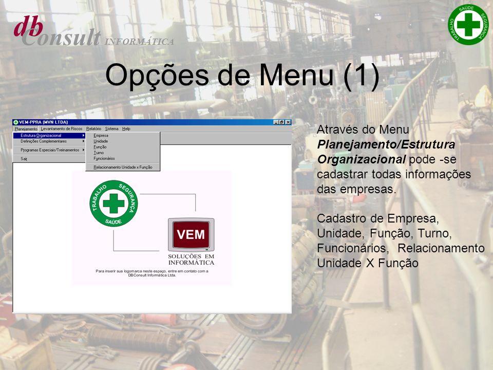 db Opções de Menu (1) Consult