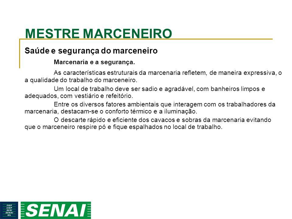 MESTRE MARCENEIRO Saúde e segurança do marceneiro