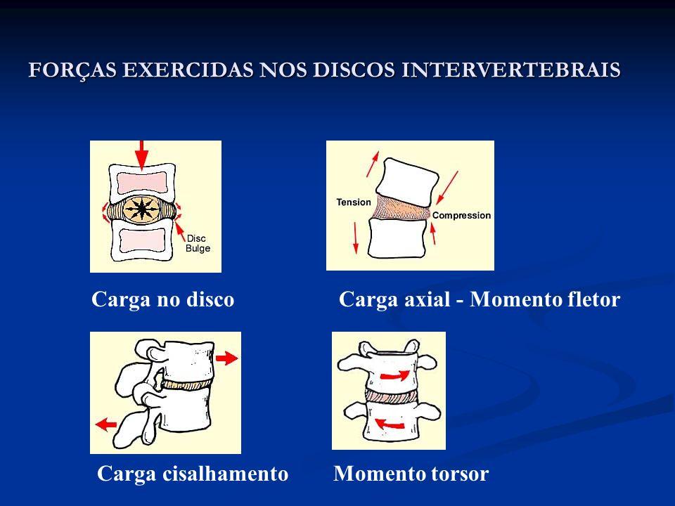 FORÇAS EXERCIDAS NOS DISCOS INTERVERTEBRAIS
