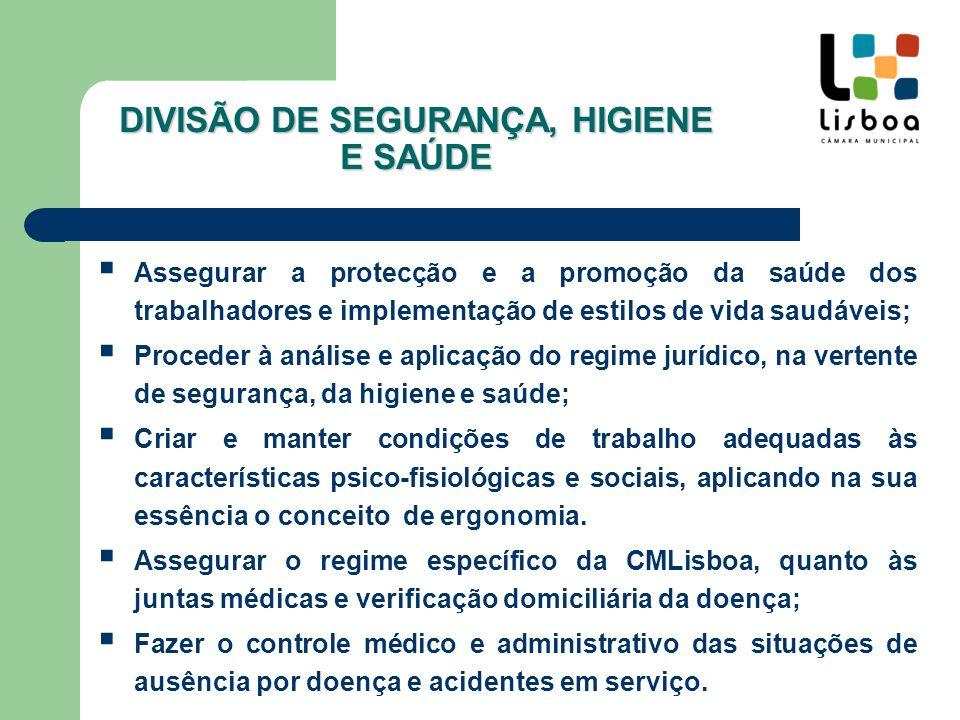 DIVISÃO DE SEGURANÇA, HIGIENE E SAÚDE