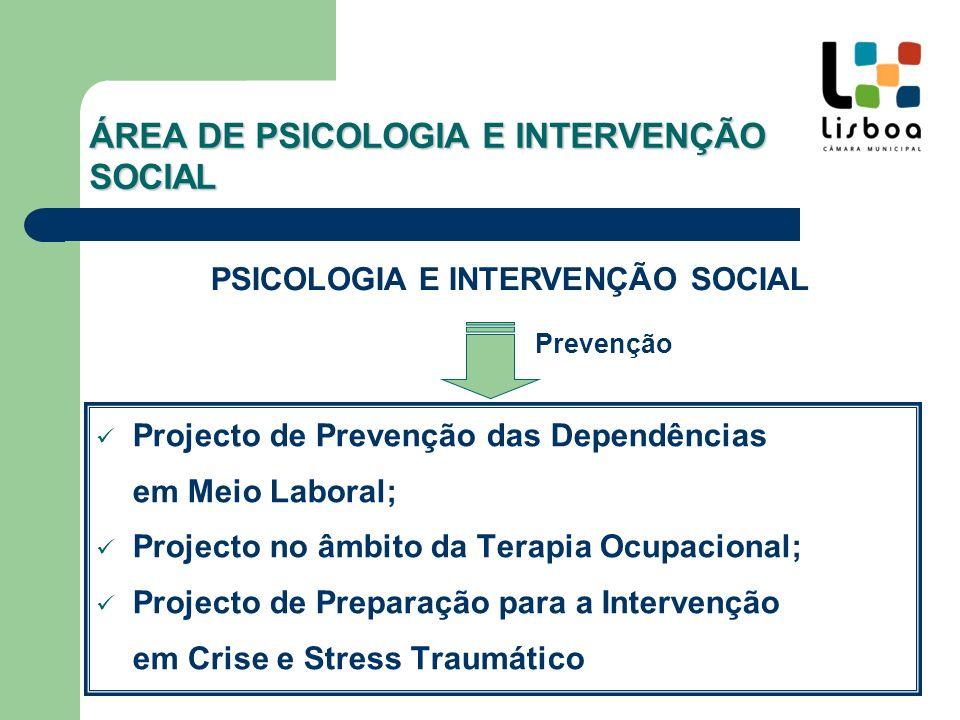 ÁREA DE PSICOLOGIA E INTERVENÇÃO SOCIAL