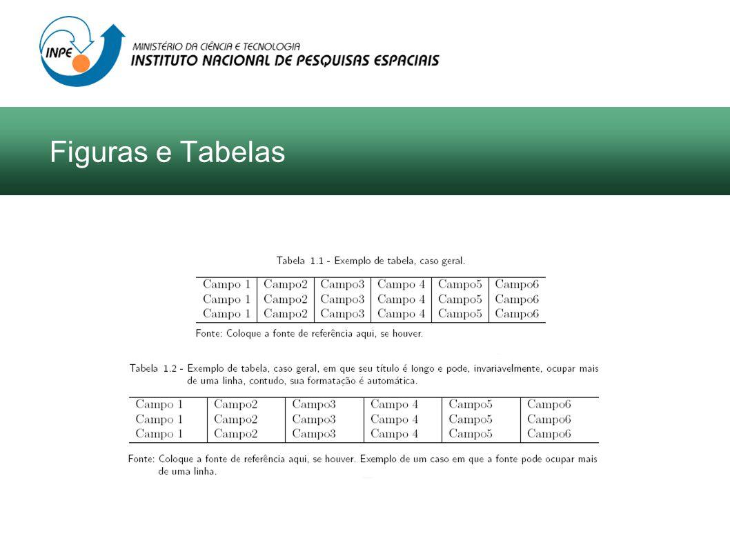 Figuras e Tabelas