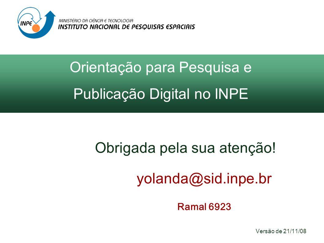 Orientação para Pesquisa e Publicação Digital no INPE