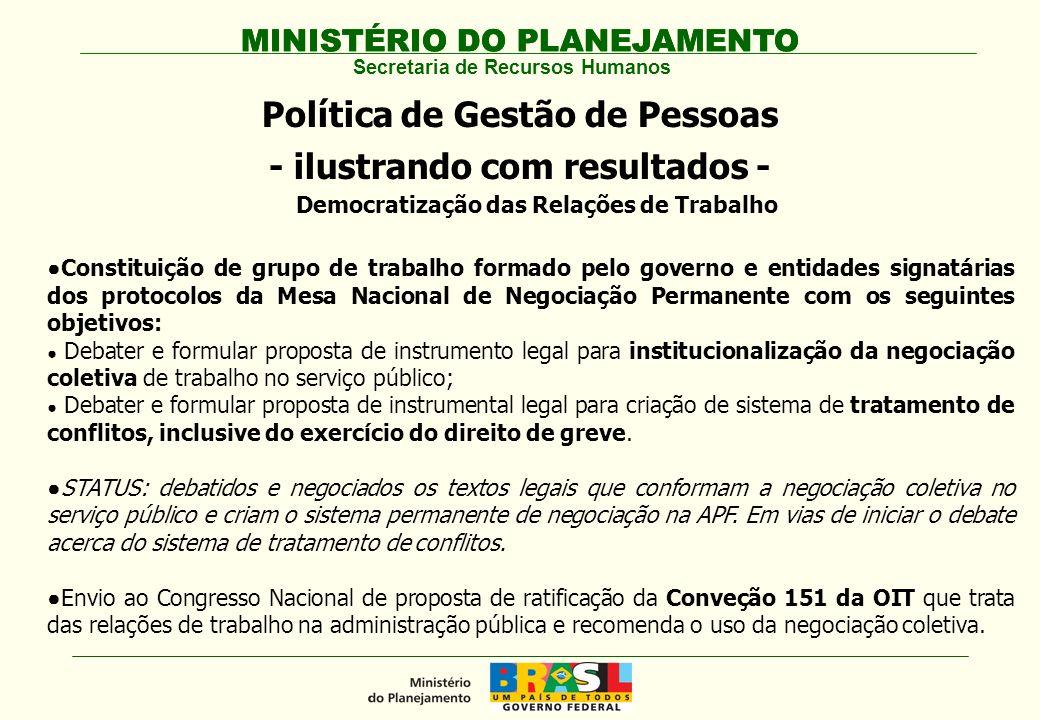 Política de Gestão de Pessoas - ilustrando com resultados -