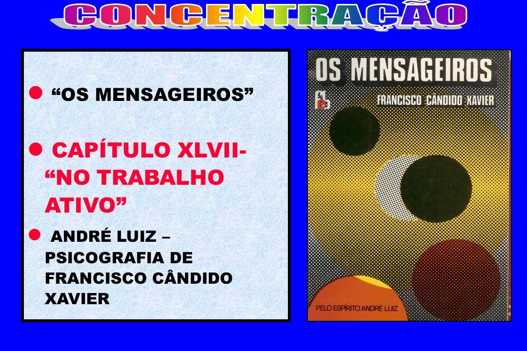 CONCENTRAÇÃO OS MENSAGEIROS CAPÍTULO XLVII- NO TRABALHO ATIVO