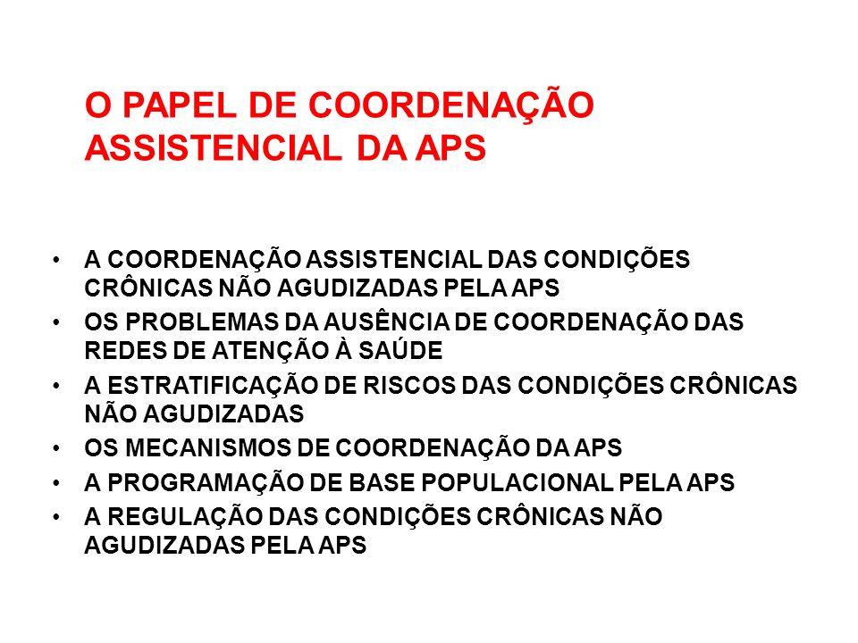 O PAPEL DE COORDENAÇÃO ASSISTENCIAL DA APS