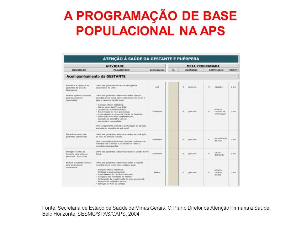 A PROGRAMAÇÃO DE BASE POPULACIONAL NA APS
