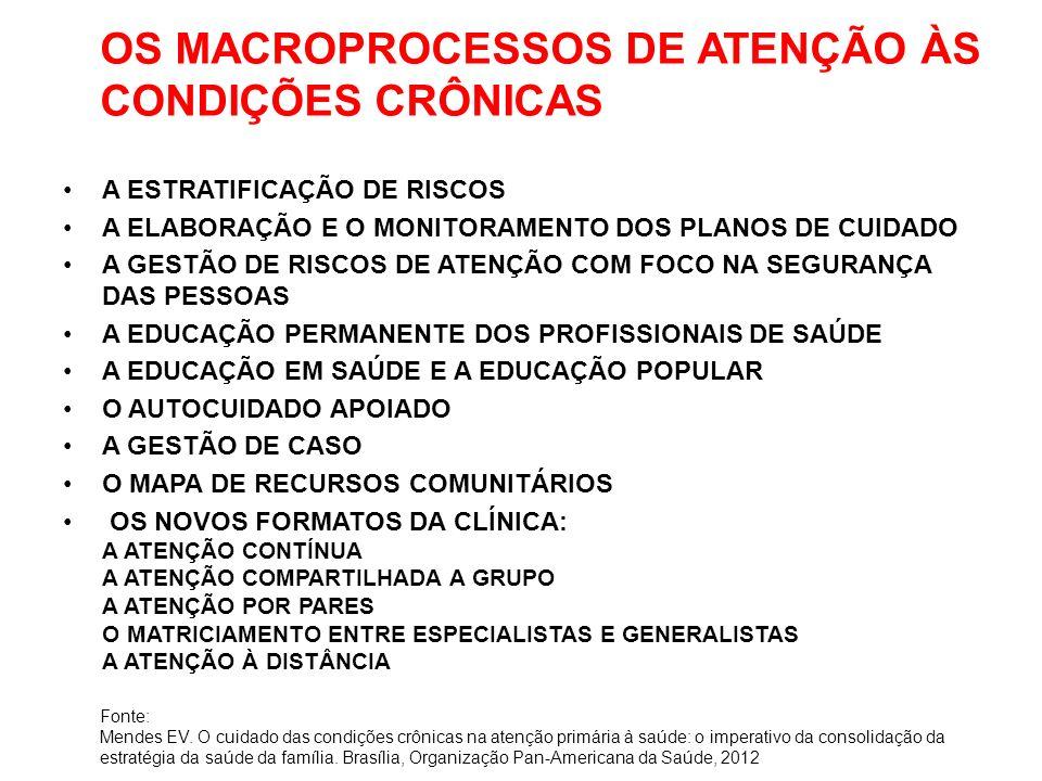 OS MACROPROCESSOS DE ATENÇÃO ÀS CONDIÇÕES CRÔNICAS