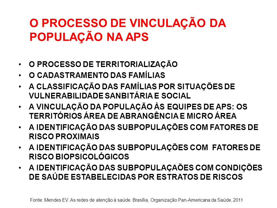O PROCESSO DE VINCULAÇÃO DA POPULAÇÃO NA APS