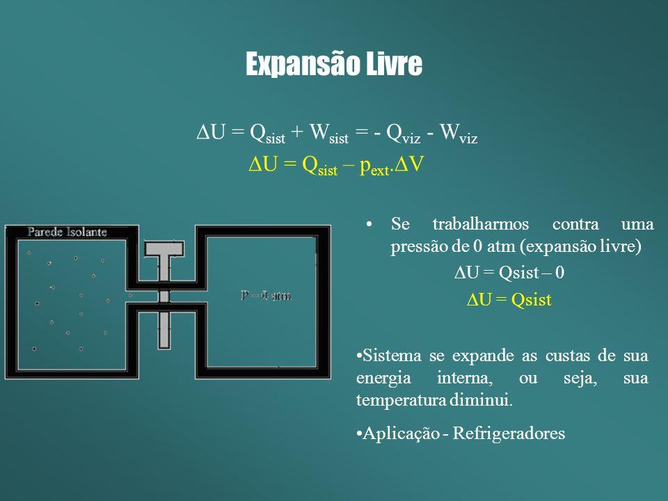 DU = Qsist + Wsist = - Qviz - Wviz