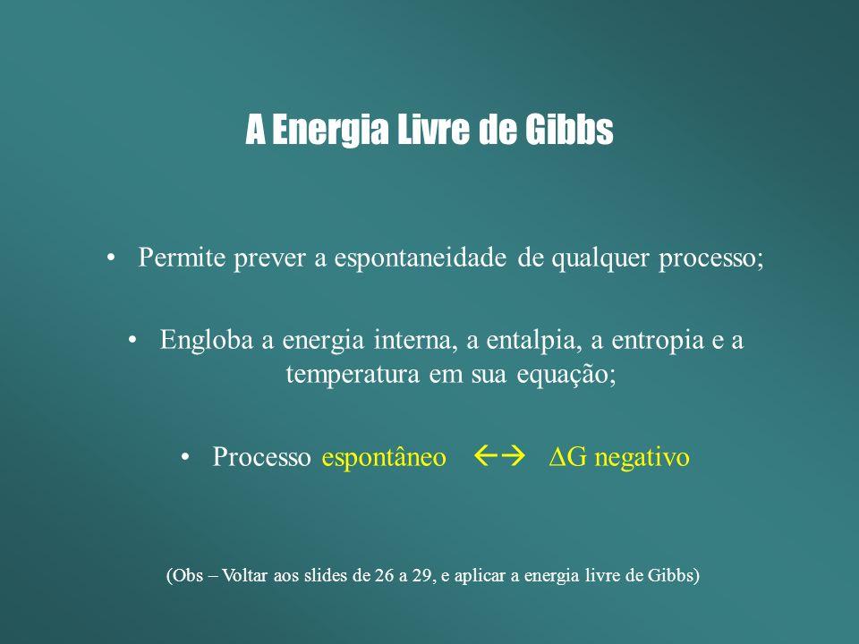 A Energia Livre de Gibbs